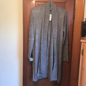 Woman's long sweater